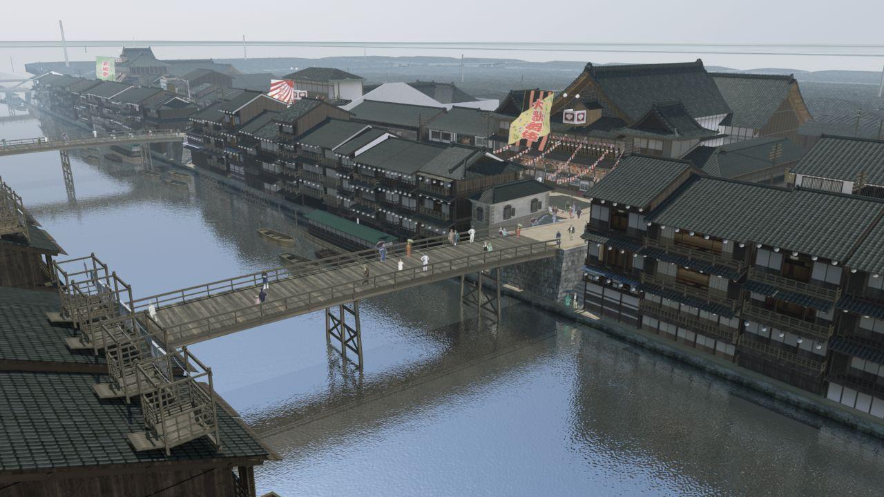大正期の道頓堀浜側復元CG.JPG