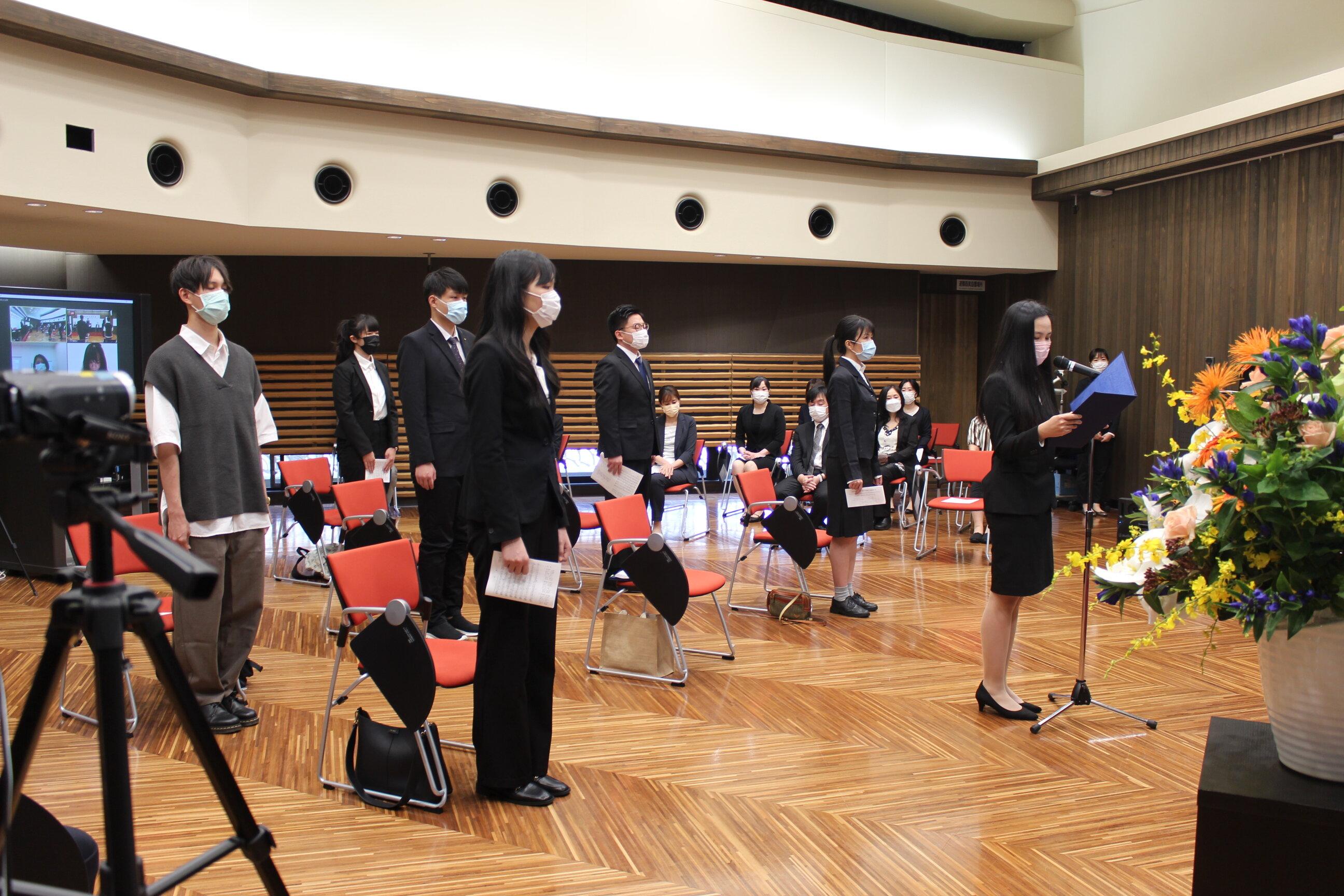 Tổ chức lễ hoàn thành Khóa học đặc biệt dành cho du học sinh Đại học Kansai Học kỳ mùa Xuân năm 2021.